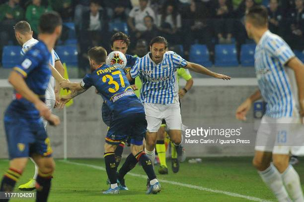 Simone Missiroli of SPAL in action during the Serie A match between SPAL and US Lecce at Stadio Paolo Mazza on September 25 2019 in Ferrara Italy