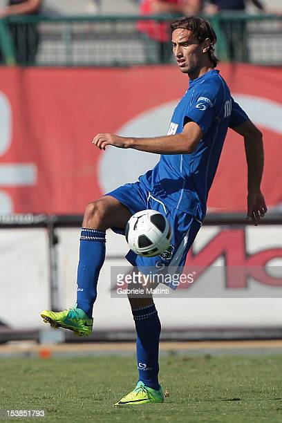 Simone Missiroli of US Sassuolo in action during the Serie B match between US Grosseto FC and US Sassuolo at Stadio Olimpico on October 6 2012 in...