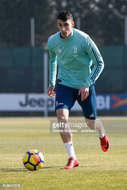 Simone Muratore during a Juventus training session at Juventus Center Vinovo on February 15 2018 in Vinovo Italy