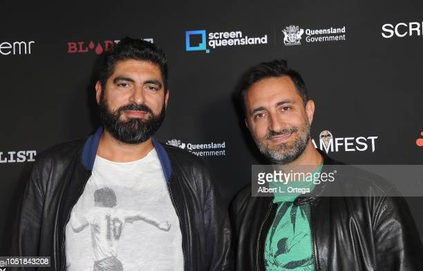 Simone Offredo and Francesco Scrufari arrive for the Screamfest LA Opening Night Screening Of 'The Amityville Murders' at TCL Chinese 6 Theatres on...