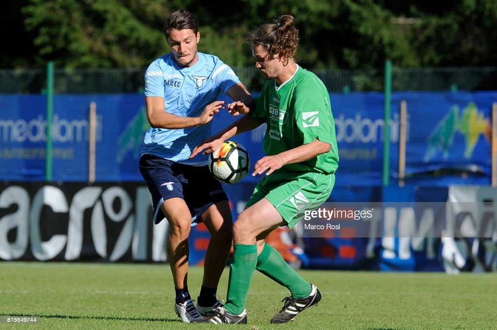 Simone Palombi of SS lazio in action during the Pre-Season Friendly match between SS Lazio and Reappresentativa Cadore on July 16, 2017 in Pieve di Cadore, Italy.