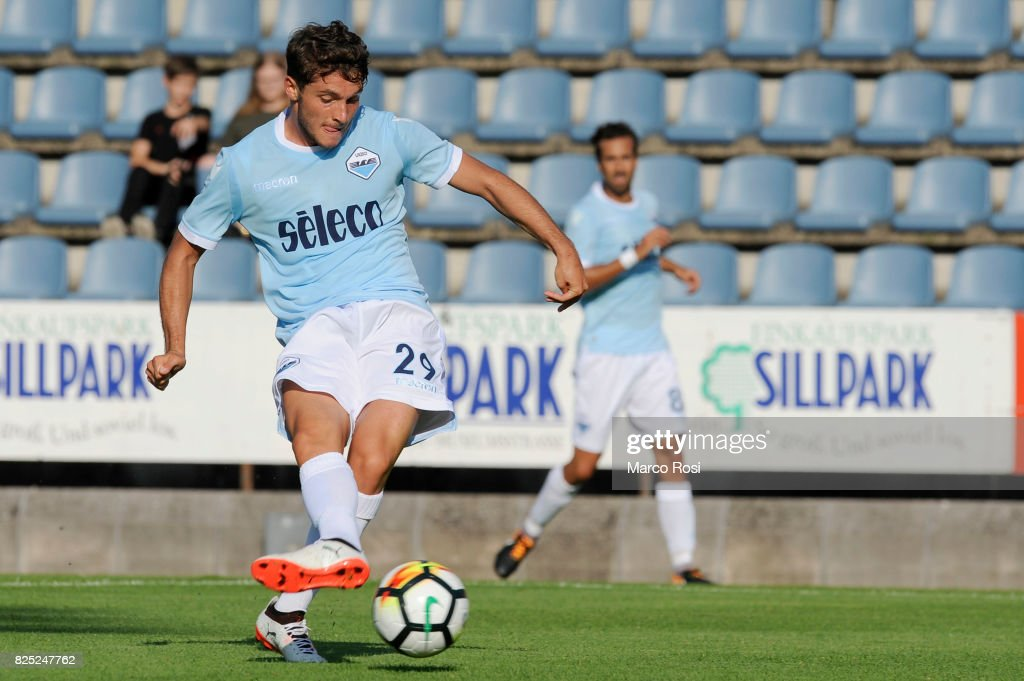 Simone Palombi of SS Lazio scores a third goal during the pre-season friendly match between SS Lazio and F.C Kufstein on August 1, 2017 in Kufstein, Austria.