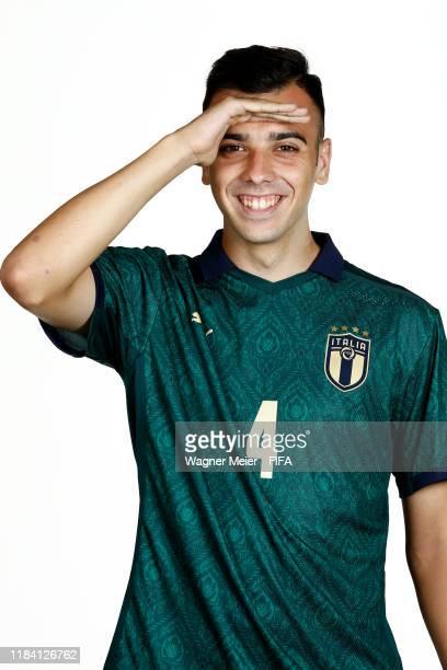 Simone Panada poses during the U17 Italy team presentation⁄ on October 25 2019 in Brasilia Brazil