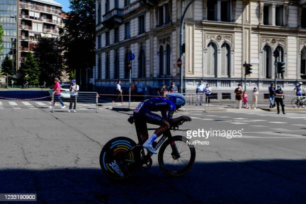 Simone Petilli of Italy and Team Intermarch - Wanty - Gobert Matriaux during the Giro d'Italia 2021 cycling race following the 21st and last stage on...