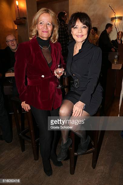 Simone Rethel and Claudia Rieschel attend the NdF after work press cocktail 2016 at Park Cafe on March 16 2016 in Munich Germany