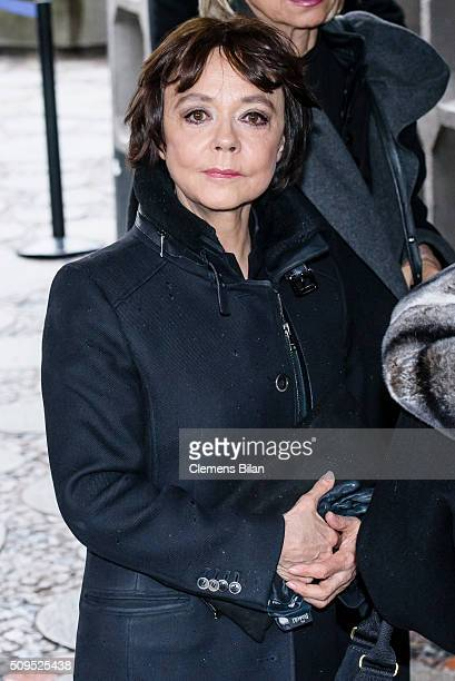 Simone Rethel attends the Wolfgang Rademann memorial service on February 11 2016 in Berlin Germany