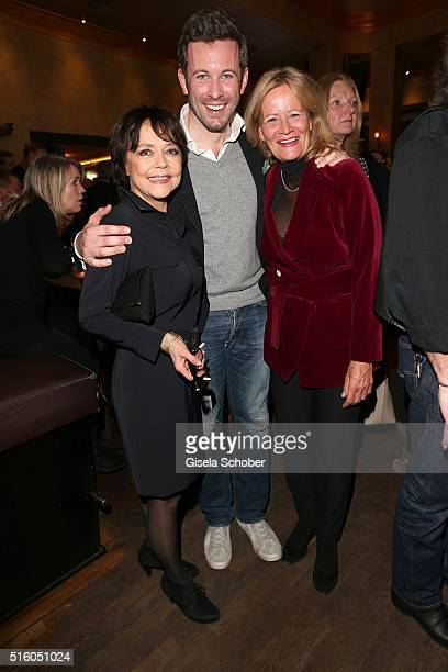 Simone Rethel Jan Hartmann and Claudia Rieschel attend the NdF after work press cocktail 2016 at Park Cafe on March 16 2016 in Munich Germany