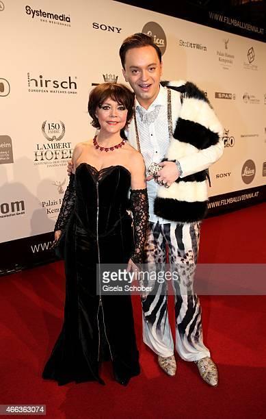 Simone RethelHeesters Julian FM Stoeckel during the Filmball Vienna 2015 on March 14 2015 in Vienna Austria
