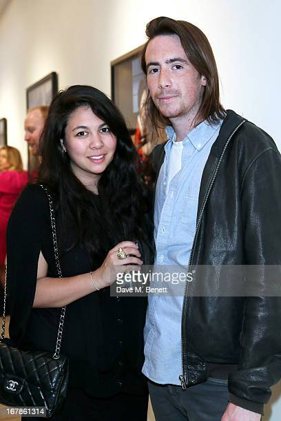Simone Rocha and Eoin McLoughlin attend a private view of the Nobuyoshi Araki exhibition at the Michael Hoppen Gallery on May 1 2013 in London England