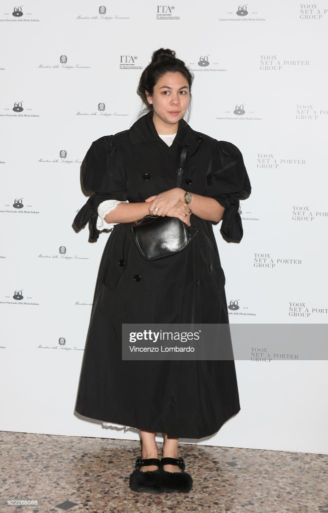 Simone Rocha attends 'Italiana. L'Italia Vista Dalla Moda 1971-2001' exhibition preview during Milan Fashion Week Fall/Winter 2018/19 at Palazzo Reale on February 21, 2018 in Milan, Italy.