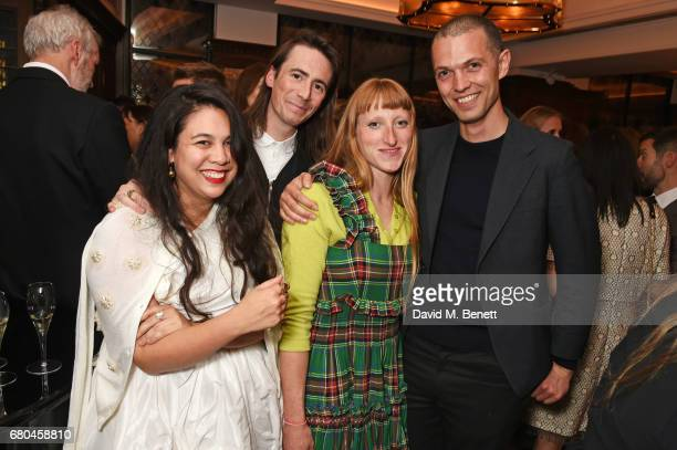 Simone Rocha Eoin Mcloughlin Molly Goddard and Thomas Shickle attend a combined celebratory VIP dinner marking The Ivy's centenary year and 150 years...