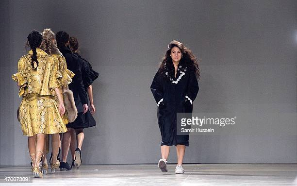 Simone Rocha on the runway during the Simone Rocha show at Topshop Showspace Tate Modern during London Fashion Week AW14 on February 18 2014 in...