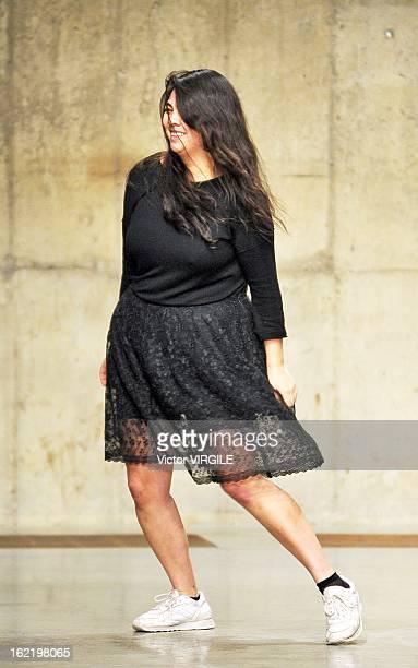 Simone Rocha walks the runway at the Simone Rocha Ready to Wear Fall/Winter 20132014 show during London Fashion Week Fall/Winter 2013/14 at TopShop...