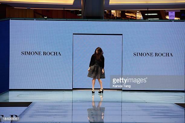 Simone Rocha walks the runway during the Vogue Fashion Dubai Experience at Dubai Mall on October 10 2013 in Dubai United Arab Emirates