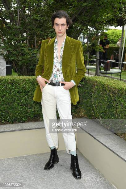 Simone Rutigliano is seen on the front row at the Etro fashion show on July 15 2020 in Milan Italy