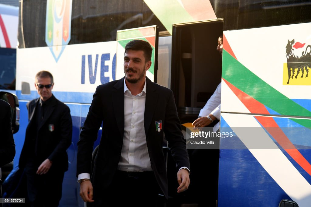 Simone Scuffet of Italy looks on during Italy walk around at Stadio Friuli on June 10, 2017 in Udine, Italy.