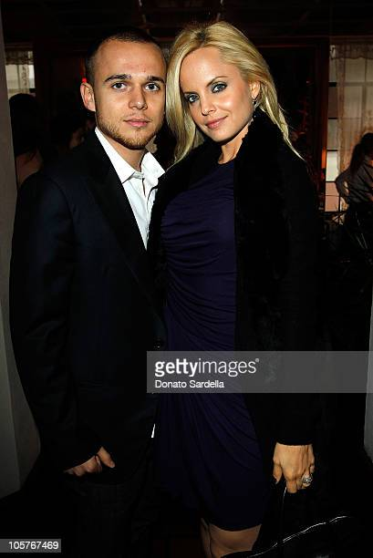 Simone Sestito and actress Mena Suvari attend the 2010 CFDA Vogue Fashion Fund Finalists Celebration with Frederic Fekkai and Lisa Love at Chateau...