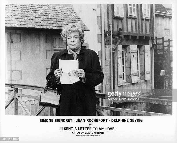 a letter to my love signoret signoret stock photos and pictures getty images 27096 | simone signoret holding letter in a scene from the film i sent a to picture id131292342?s=612x612