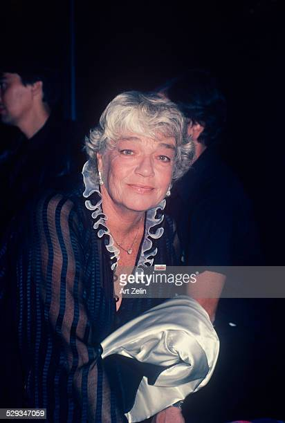 Simone Signoret in Paris for Paris is Bruning at the Paris Opera House with her husband Yves Montand circa 1970 New York