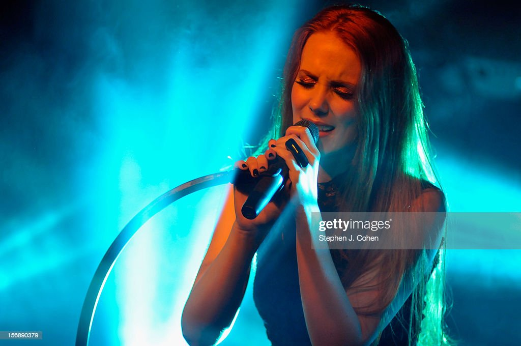Simone Simons of Epica performs in concert at Headliners Music Hall on November 23, 2012 in Louisville, Kentucky.