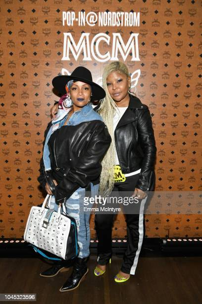 Simone Smith and Misa Hylton attend PopIn@Nordstrom MCM at Chateau Marmont on October 3 2018 in Los Angeles California