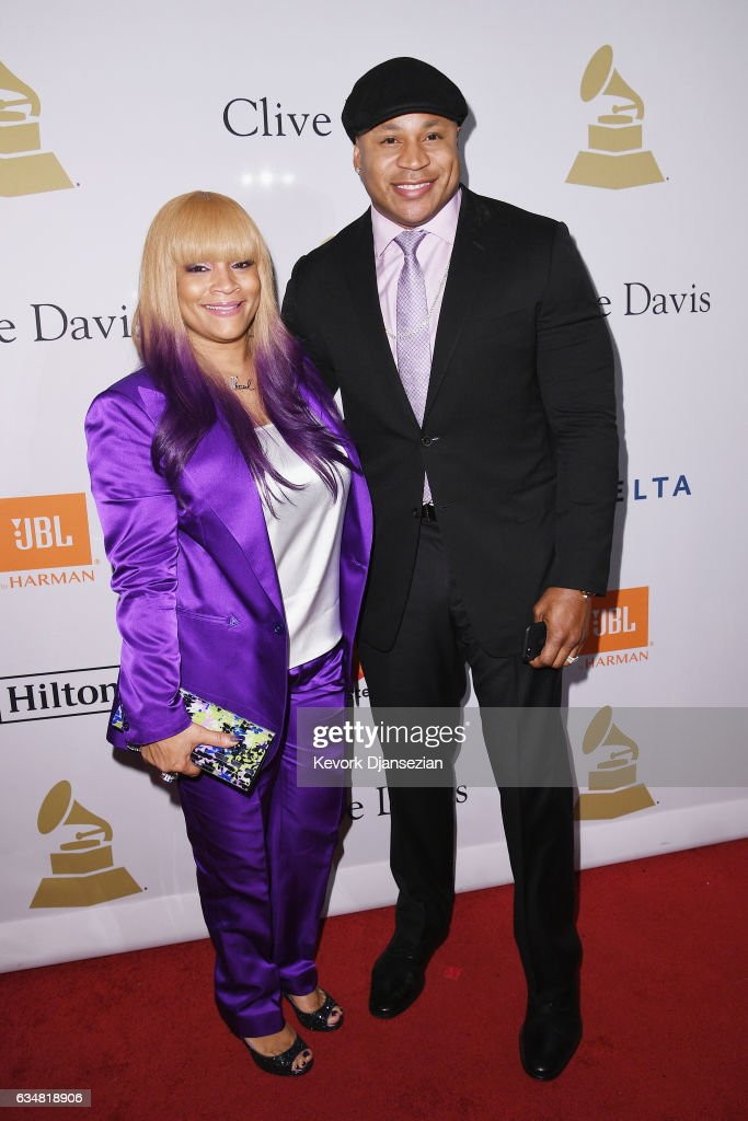Simone Smith (L) and recording artist LL Cool J attend Pre-GRAMMY Gala and Salute to Industry Icons Honoring Debra Lee at The Beverly Hilton on February 11, 2017 in Los Angeles, California.