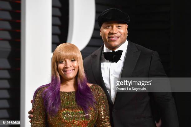 Simone Smith and recording artist LL Cool J attends the 2017 Vanity Fair Oscar Party hosted by Graydon Carter at Wallis Annenberg Center for the...