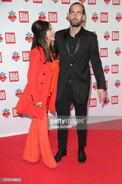 Simone Thomalla and her boyfriend Silvio Heinevetter during the Ein Herz Fuer Kinder Gala at Studio Berlin Adlershof on December 8, 2018 in Berlin,...
