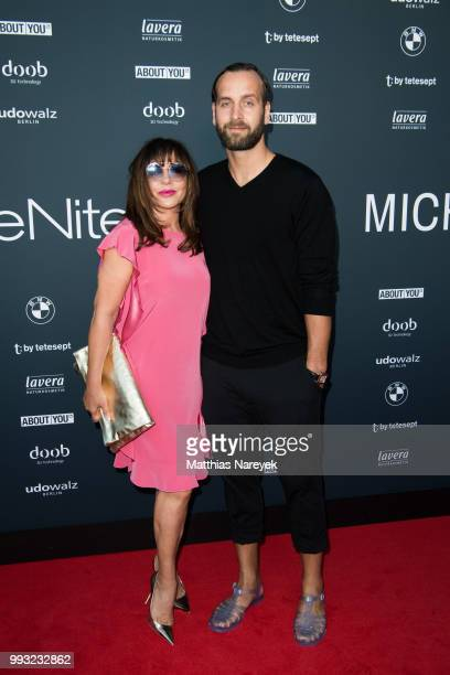 Simone Thomalla and Silvio Heinevetter attend the Michalsky StyleNite during the Berlin Fashion Week Spring/Summer 2019 at Tempodrom on July 6 2018...