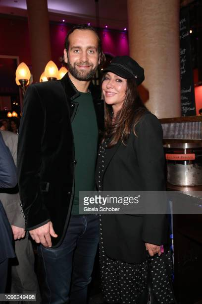 Simone Thomalla and Silvio Heinevetter during the BUNTE BMW Festival Night at Restaurant Gendarmerie during the 69th Berlinale Filmfestival on...