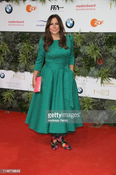 Simone Thomalla attends the Lola - German Film Award red carpet at Palais am Funkturm on May 03, 2019 in Berlin, Germany.