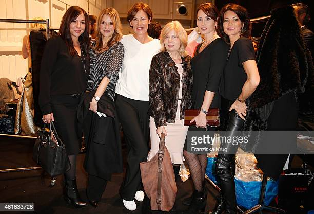 Simone Thomalla Kim Fisher Eva Lutz Sabine Postel Anja Kling and Gerit Kling attend the Minx by Eva Lutz show during the MercedesBenz Fashion Week...