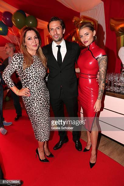 Simone Thomalla Quirin Berg and Sophia Thomalla during the Bild 'Place to B' Party at Borchardt during the 66th Berlinale International Film Festival...