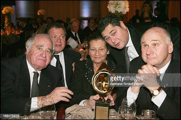 Simone Veil and husband Antoine with their children Jean and Pierre Francois Veil and Menachem Magidor at The Gala Scopus Award 2007 Organised By L'...