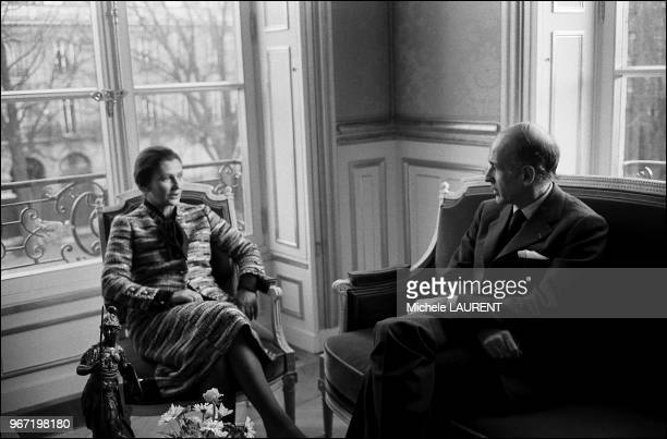 Simone Veil and Valery Giscard d'Estaing