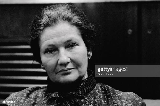 Simone Veil former president of the European Parliament