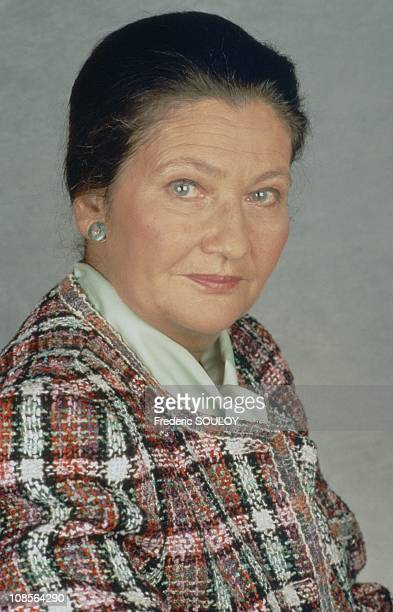Simone Veil in studio in France in December 1993