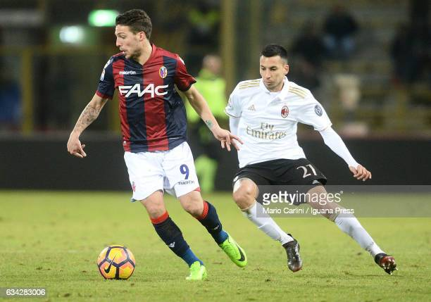 Simone Verdi of Bologna FC in action during the Serie A match between Bologna FC and AC Milan at Stadio Renato Dall'Ara on February 8 2017 in Bologna...