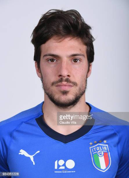 Simone Verdi of Italy poses during the official portrait session at Centro Tecnico Federale of Coverciano on March 19 2018 in Florence Italy