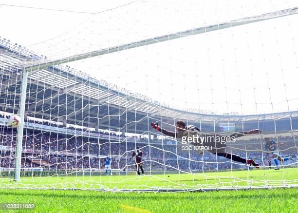 Simone verdi of Napoli scores th e 20 goal during the serie A match between Torino FC and SSC Napoli at Stadio Olimpico di Torino on September 23...