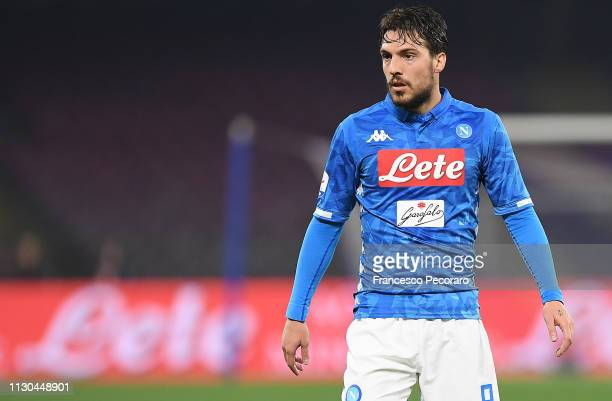 Simone Verdi of SSC Napoli in action during the Serie A match between SSC Napoli and Torino FC at Stadio San Paolo on February 17, 2019 in Naples,...