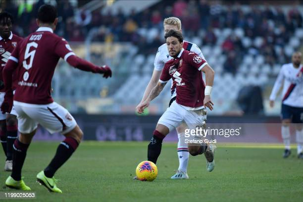 Simone Verdi of Torino FC during the Serie A match between Torino FC and Bologna FC at Stadio Olimpico Grande Torino on January 12 2020 in Turin Italy