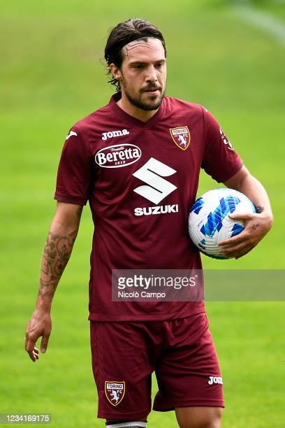 Simone Verdi of Torino FC holds the ball during the pre-season friendly football match between Torino FC and SSV Brixen. Torino FC won 5-1 over SSV...