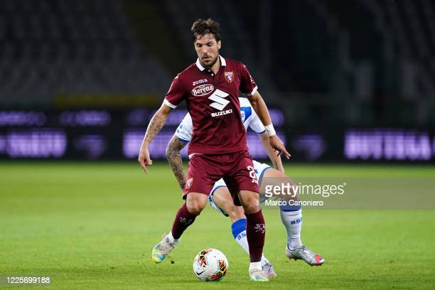 Simone Verdi of Torino FC in action during the the Serie A match between Torino Fc and Brescia Calcio. Torino Fc wins 3-1 over Brescia Calcio.