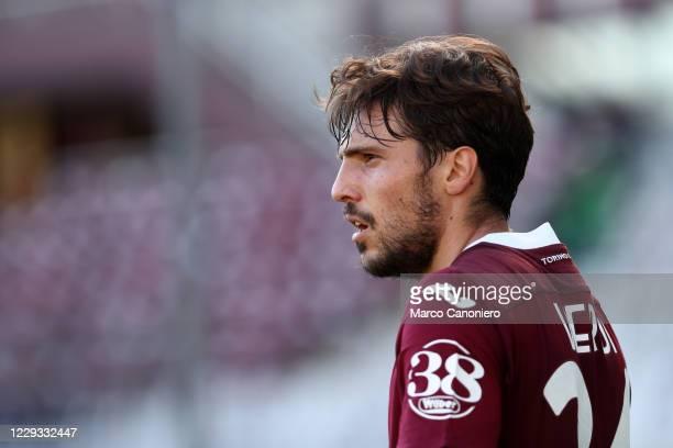 Simone Verdi of Torino FC looks on during the Coppa Italia match between Torino Fc and Us Lecce. Torino Fc wins 3-1 over Us Lecce.