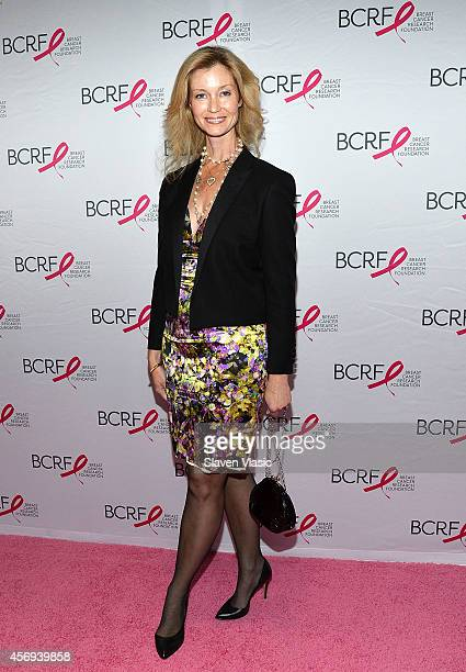 Simone Winston attends the 2014 Breast Cancer Research Foundation Awards Luncheon Honoring Barbara Walters at The Waldorf Astoria on October 9 2014...