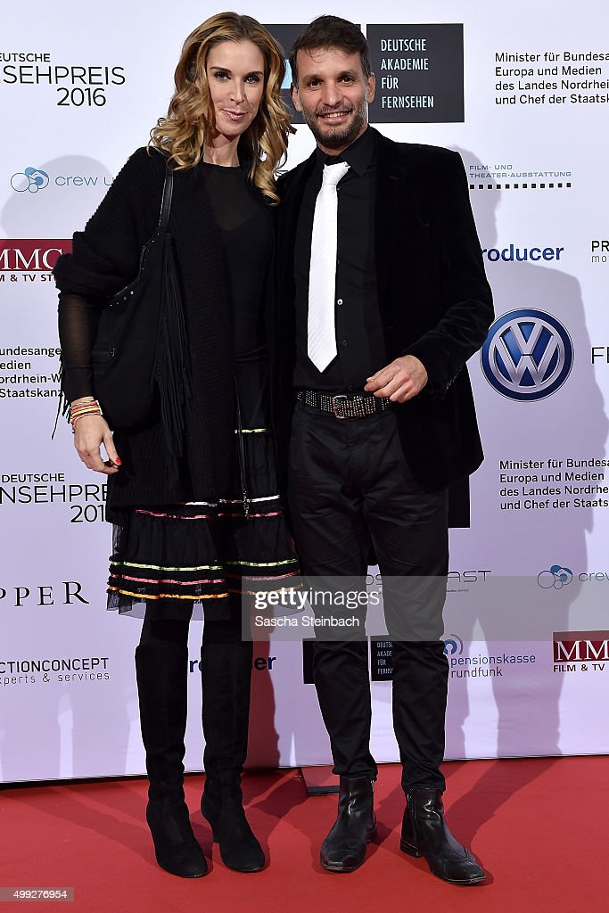 Simone Zamperoni and Luca Zamperoni attend the German television award by the Deutsche Akademie fuer Fernsehen at Museum Ludwig on November 28, 2015 in Cologne, Germany.