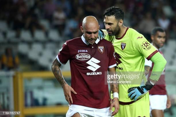 Simone Zaza and Salvatore Sirigu of Torino FC during the the Serie A match between Torino Fc and Us Sassuolo Calcio Torino Fc wins 21 over Us...
