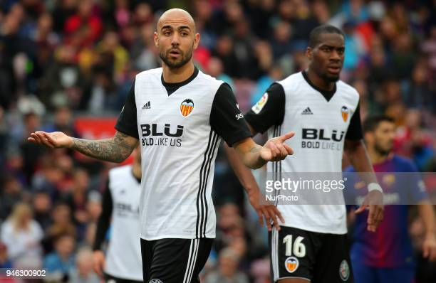 Simone Zaza during the match between FC Barcelona and Valencia CF played at the Camp Nou Stadium on 14th April 2018 in Barcelona Spain
