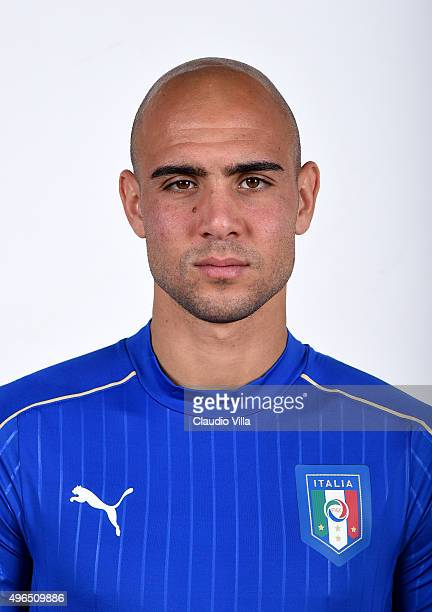 Simone Zaza of Italy poses during the official portrait session at Coverciano on November 10 2015 in Florence Italy